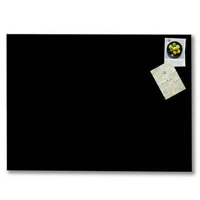 Naga 80x60cm Wall Mountable/Magnetic/Magnets Glass Board Home/Office Black