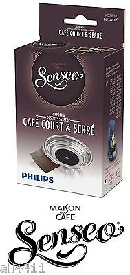 HD7003/11 SENSEO Porte UNE Dosette Marron Ristretto support Cafe court HD7824