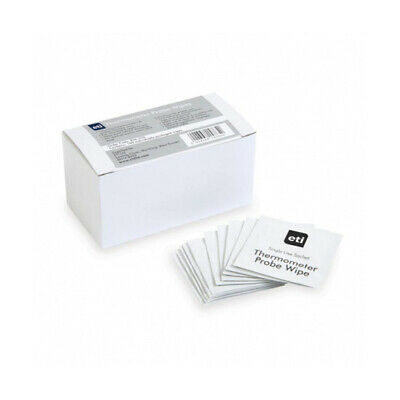 Thermometer Probe Wipes Box of 100 Individually Wrapped Kitchen Restaurant