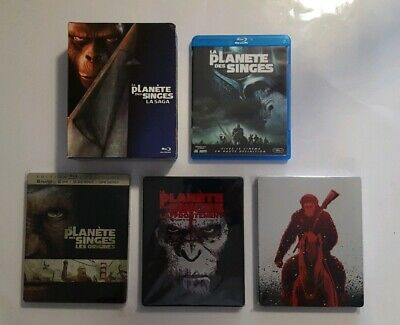 Lot Bluray - Intégrale LA PLANETE DES SINGES ( dont Steelbook ) - 9 films
