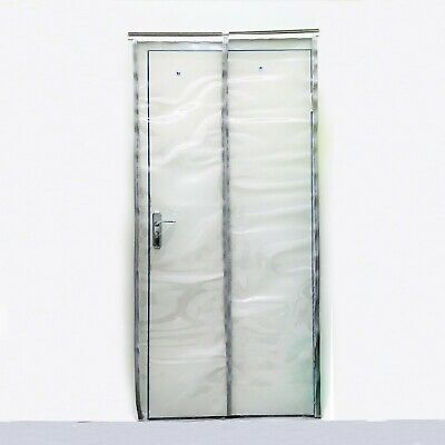 Magnetic Plastic Door Curtain 1000x2100mm – 500mmx2mm Clear PVC Strips Curtains