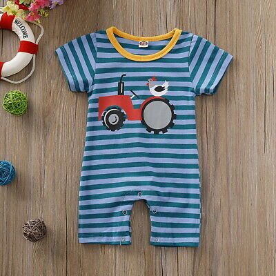 Baby Toddler Romper Stripes Short Sleeve Clothes Jumpsuit Outfits Summer Wear