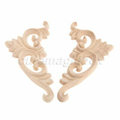 11*6cm Classic European Style Unpainted Woodcarving Corner Decal Craft Decor DIY