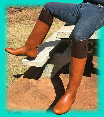 Never A Pair Like These Before! Dramatic X Tall Custom Vogel Fox Hunt Boots! 11+