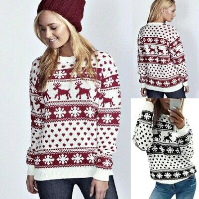 Winter Warm Sweater Pullover Women Men Xmas Jumper Sweatshirt Tee Tops Coat