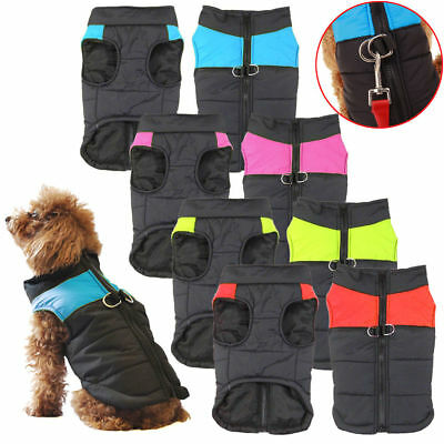 Pet Dog Jacket Padded Waterproof Clothes Warm Windbreaker Vest Coat Winter Warm
