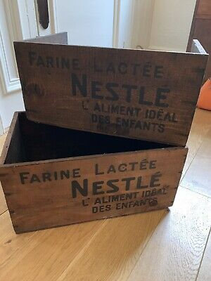 Vintage Wooden Crates. Cool Storage Or Decoration.