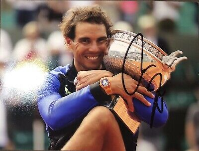Autograph Rafael Nadal, 20* 27 cm (8*10) (Signed in person)