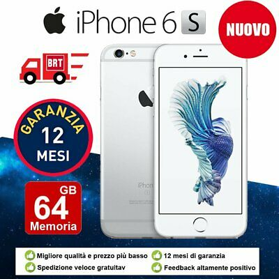 Nuovo Apple Iphone 6S 64Gb Argento Ios + Accessorie + Garanzia 12 Mesi It