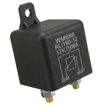 12V 100Amp 4-Pin Heavy Duty ON/OFF Switch Split Charge Relay Car Boat Universal