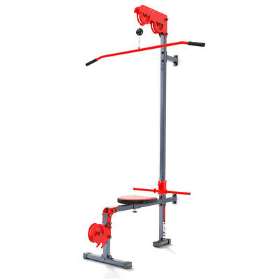 Multi Gym Lat Pull Down Machine With Bench Wall Mounted Home Fitness Kssl017