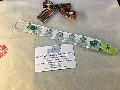 Baby Dummies Clips ,Holder/Dummy/Soother/Pacifier/chain The Snowman