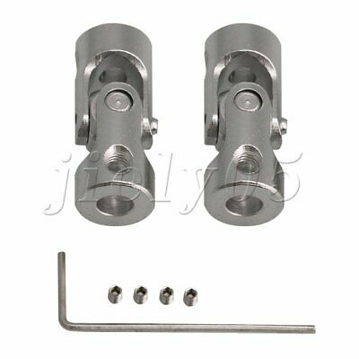 2pcs Silver Steel Rotatable Joint Coupling for Metal Transfer Models Multi Size