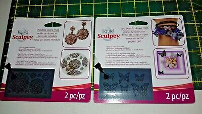 liquid sculpey silicone bakeable moulds with squeegee x 2 packs