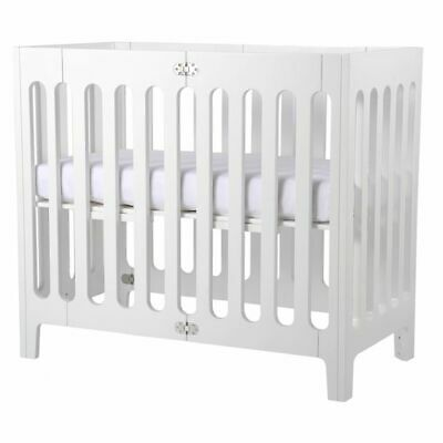 NEW bloom Alma Mini Urban Cot in White