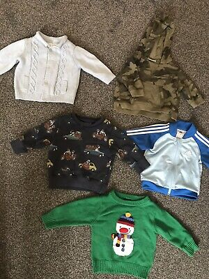 Next Adidas Baby Boy Jumpers Cardigans 3-6 6-9 Months