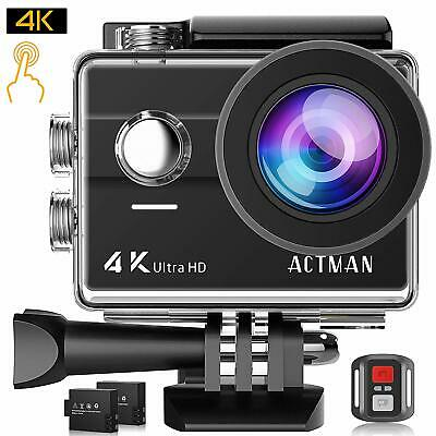 ACTMAN 4K Action Camera 16MP Underwater Waterproof Camera with Wi-Fi Remote