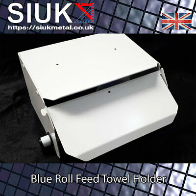 Roll Feed Wall Mounted Paper Towel Dispenser Blue Roll Holder