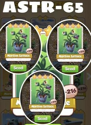 Coin Master Card Martian Lettuce x3 Pack Fast delivery
