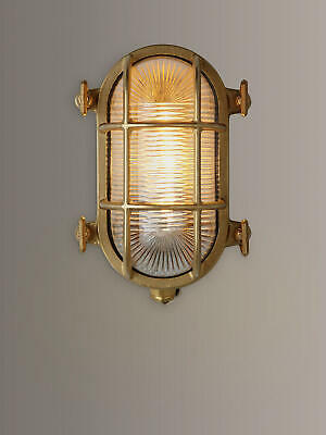 BRAND NEW BOXED Nordlux Bulkhead Outdoor Wall Light, Brass
