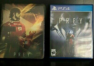 PREY w/SEALED RARE STEELBOOK Case! Game PS4 Sony PlayStation 4