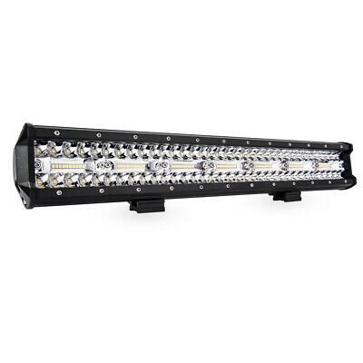 "20"" Triple Row LED Light Bar cOMBO Driving Lamp 21000LM For Off-road Jeep Rzr"