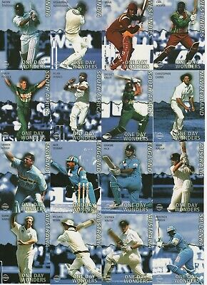 1999 Topdraw - One Day Wonders - Complete Cricket Card Set Inc Rare Hussain Auto