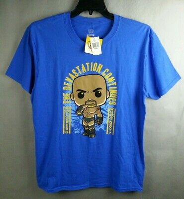 NWT Funko Pop Goldberg The Devastation Continues WWE T-Shirt Blue Size M Medium