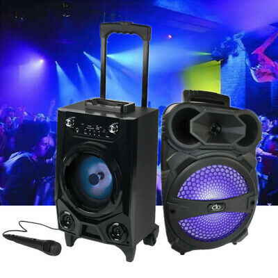 Portable BT Party DJ Tailgate Speaker LED Lights Rechargeable Wireless Bluetooth