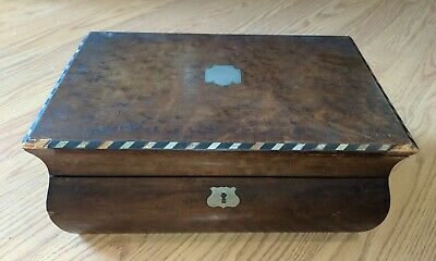 Antique Writing Desk 19th Century Lap Desk Bombe Form as is