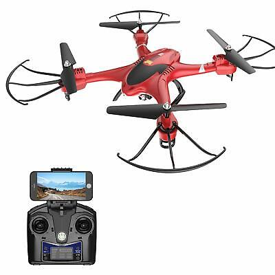 Holy Stone HS200 FPV RC Drone with HD WiFi Camera Live Feed 2.4GHz 4CH 6- (Red)