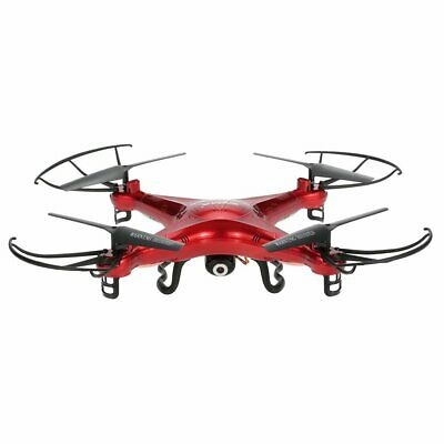 Syma X5C Drone with 2.0MP HD Camera RC Quadcopter with 3D Flips & High/ (Red)