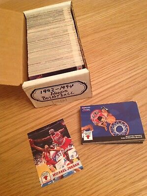 Complete Set Hoops 93-4 Series 1 And 2 NBA Basketball Trading Cards (1-421)