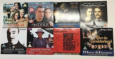 8 x THE DAILY MAIL PROMO DVD'S Including Alice in Wonderland & West Side Story