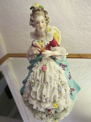 Antique German Porcelain Dresden Lady