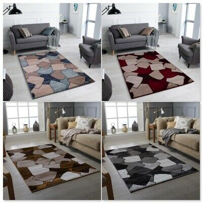 Luxury Thick Modern Brown Rugs Large Floor Carpet Rugs Soft Non Slippery Mats