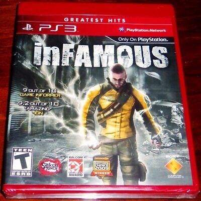 Infamous (Sony Playstation 3, 2009) Complete With Case, Mint Condition