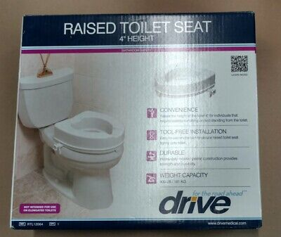 Brilliant Drive Raised Toilet Seat W Arms Fits Elongated Toilets Uwap Interior Chair Design Uwaporg