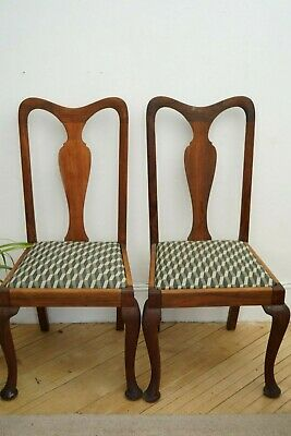 vintage antique art deco geometric pattern upcycled renewed dining chair