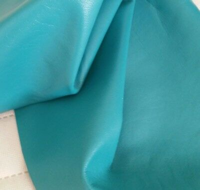 Jade Turquoise Blue Lamb Leather Nappa Skin Hides Crafts Fashion Trimming 9sqft