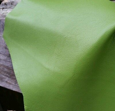 Lime Green Lamb Leather Nappa Hide Craft Trimming Fashion Skins 9 sqft