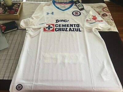 58494e9d UNDER ARMOUR Deportivo Cruz Azul Boing Telcel Mexico Away 2016/17 White  Jersey L