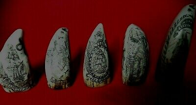 Fantastic Five Faux Scrimshaw Miniature Collectable Teeth Superb Quality SRP£70