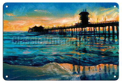 Decals Stickers Huntington Beach Pier Souvenir Memorabilia Surfing st5 W7694