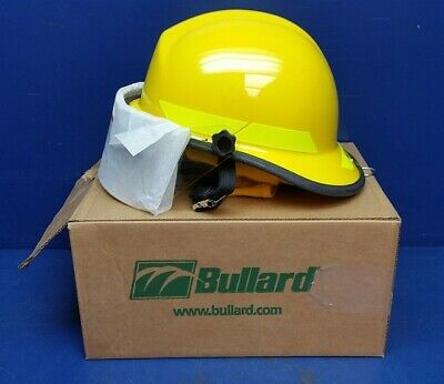 "Bullard PX Fire Helmet with R330 4"" Faceshield & R726Y Yellow Nomex ENP"