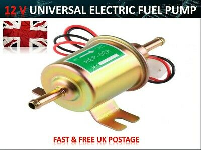 12V ELECTRIC UNIVERSAL PETROL DIESEL FUEL PUMP POSITIVE EARTH TRACTOR FPU5P02