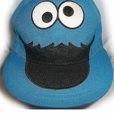 c6877b1ee361 SESAME STREET COOKIE Monster Flatbill Fitted Premium Quality Hat 7 3 ...