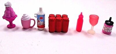 Dollhouse Accessories Lot 7 Miniatures Kitchen Items 6 Pack Soda Ice Cream