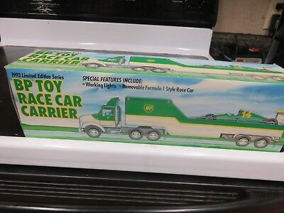 NEW SEALED IN BOX 1993 BP Toy Race Car Carrier
