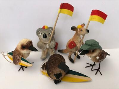 Australiana Novelty Natives Decorative Hand Crafted Bristlebrush Birds & Animals
